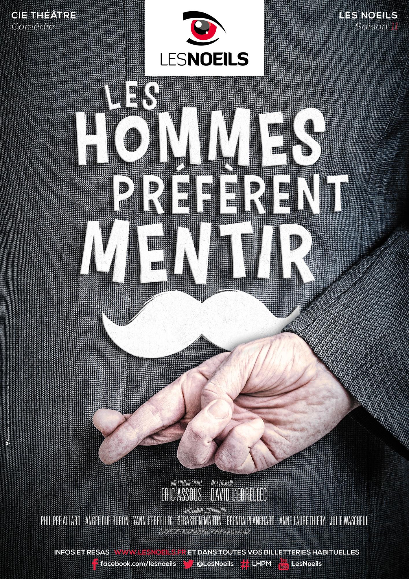 Affiche Les hommes préfèrent mentir