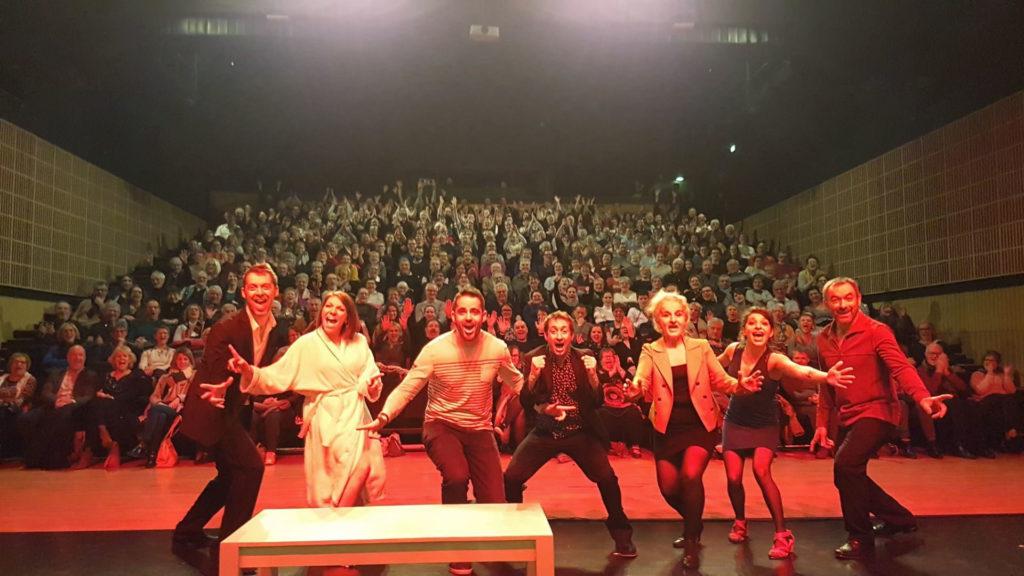 La troupe de La soeur du Grec-Compagnie théâtre Les Noeils